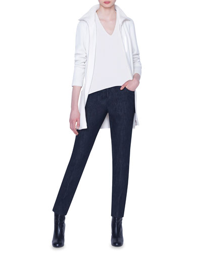 Cashmere Zip-Front Turtleneck and Matching Items