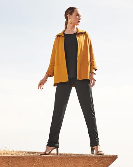 Caroline Rose Plus Size Ponte Luxe Zip-Front Jacket
