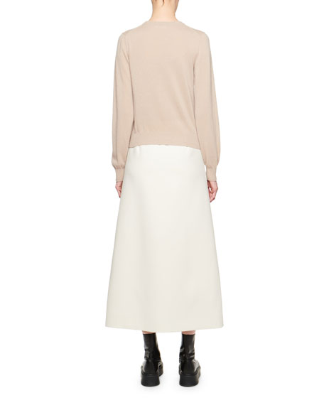 THE ROW Magey Cashmere-Silk Sweater