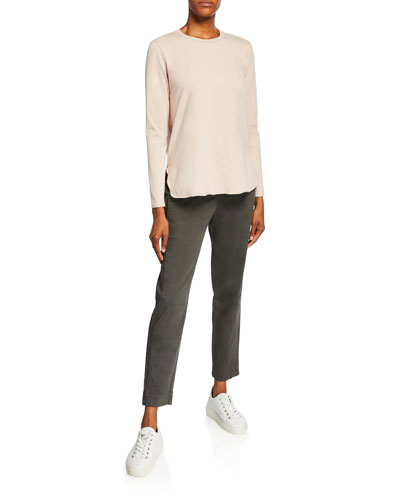 Drawstring Front Pocket Ankle Pants and Matching Items