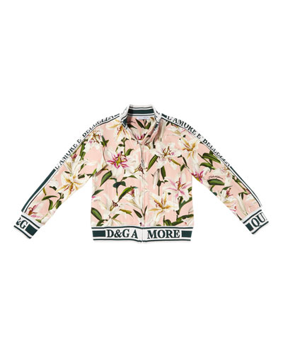 Lilly of the Valley Print Track Jacket  Size 8-12  and Matching Items