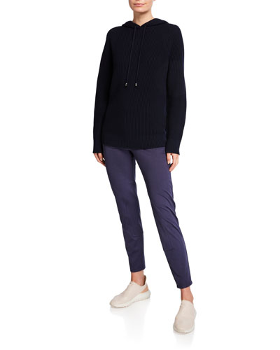 Ribbed Wool Hooded Sweater and Matching Items