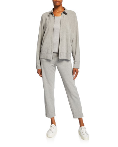 Zip-Front Dolman Sleeve Jersey Track Jacket and Matching Items