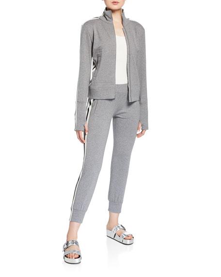 Norma Kamali Side-Stripe Turtle Track Jacket