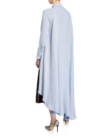 palmer//harding Super Striped Asymmetric Shirt
