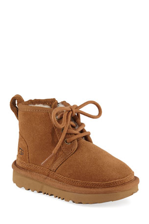 UGG Neumel Suede Lace-Up Boots, Toddler/Baby Neumel Suede Lace-Up Boots, Kids