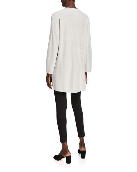 Eileen Fisher Organic Cotton/Silk V-Neck Bracelet-Sleeve Sweater