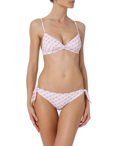 Stella McCartney Monogram Triangle Bikini Top