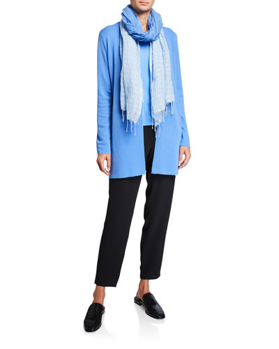Ultrafine Merino Wool Straight Long Cardigan and Matching Items