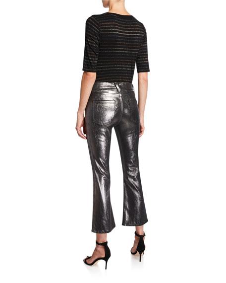 Veronica Beard Carolyn High-Rise Baby Boot-Cut Jeans