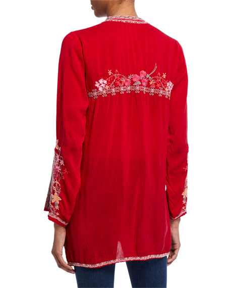 Johnny Was Liliana Embroidered Tunic