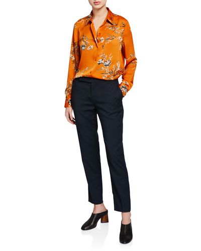 Essential Floral Button-Down Shirt and Matching Items