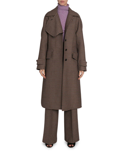 Checked Wool Felted Coat and Matching Items
