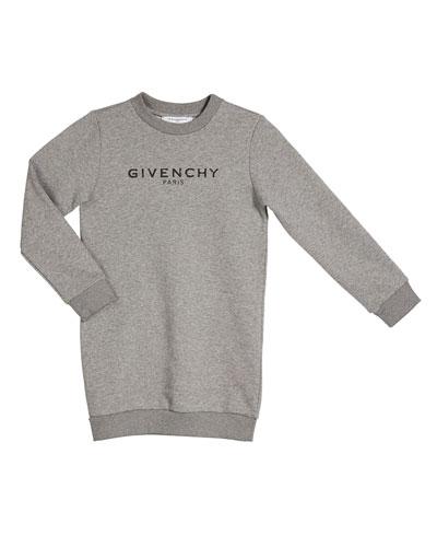 Girl's Long-Sleeve Fleece Logo Dress  Size 4-10  and Matching Items