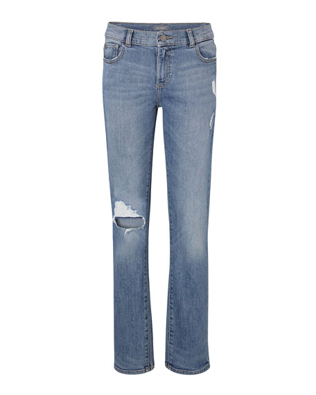 DL 1961 Boys' Hawke Skinny Ripped Straight-Leg Jeans, Toddler Sizes