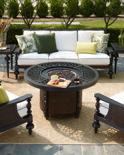 Hemingway Plantation 48 Round Fire Pit and Matching Items