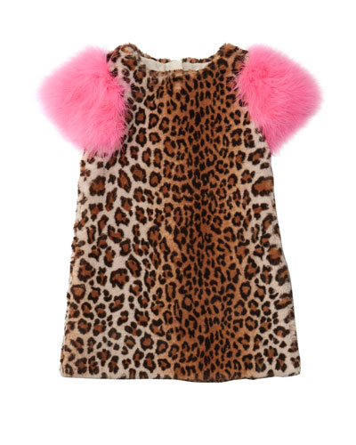 Nala Leopard Print Faux Fur Dress, Size 4-8  and Matching Items