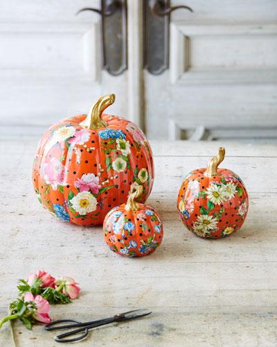 Flower Market Medium Pumpkin  and Matching Items