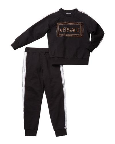Girl's Studded Logo Sweatshirt w/ Matching Sweatpants  Size 4-6  and Matching Items