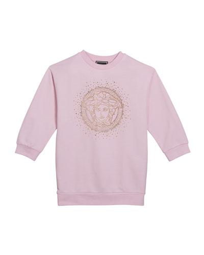 Girl's Sweatshirt Dress w/ Crystal Medusa Logo  Size 4-6  and Matching Items