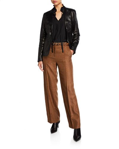 Winthrop Euphoric Melange Cloth Wool Pants and Matching Items