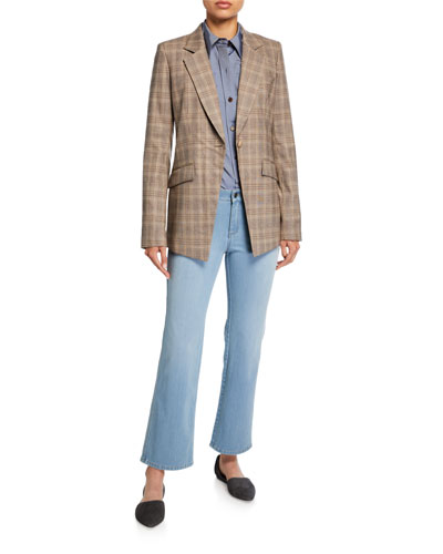 Virginia Primary Plaid One-Button Blazer and Matching Items