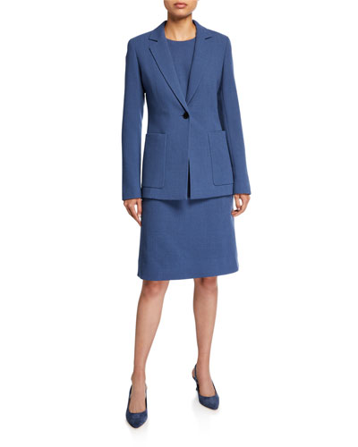 Nazelli Nouveau Crepe One-Button Jacket and Matching Items