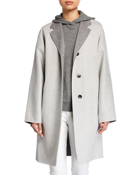Lafayette 148 New York Cullen Supreme Double-Face Button-Front Reversible Jacket