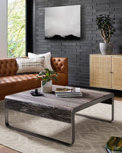 Lena Leather Tufted Sofa  and Matching Items
