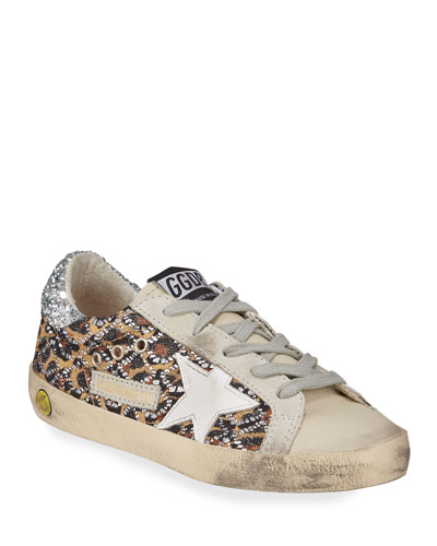 Superstar Leopard Embellished Sneakers  Toddler/Kids  and Matching Items