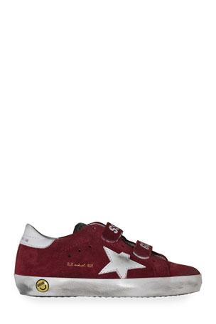 Golden Goose Boy's Old School Suede Sneakers, Baby/Toddler Boy's Old School Suede Sneakers, Toddler/Kids
