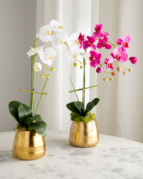 John-Richard Collection Tegan Gold Floral Arrangement