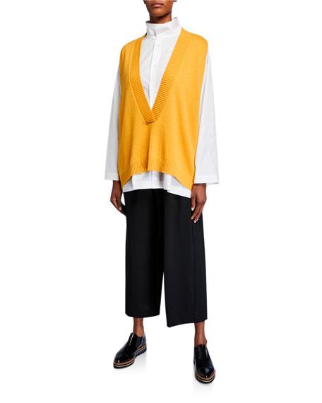 Eskandar Deep-V Cashmere Sweater Vest