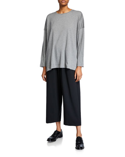 Long-Sleeve T-Shirt with Longer Back and Matching Items