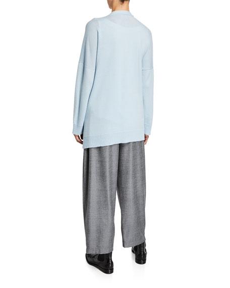 Eskandar 3/4-Width Long-Back Cardigan