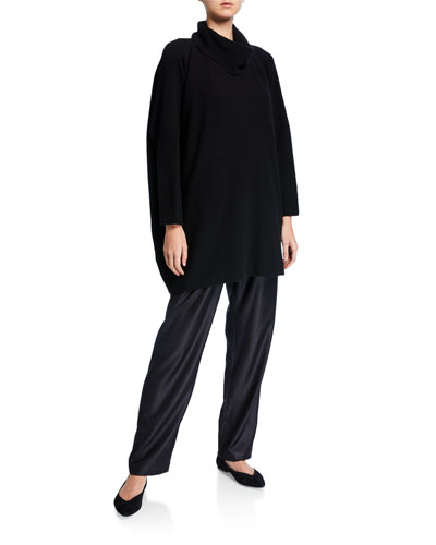 Cashmere Slim-Sleeve Cowl-Neck Sweater and Matching Items
