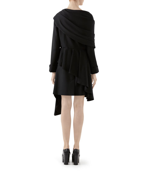 Gucci Wool Asymmetric Draped Jacket