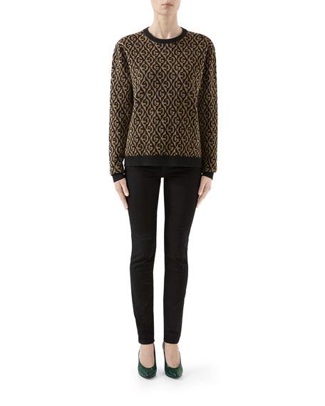 Gucci Metallic GG Rhombus Jacquard Sweater