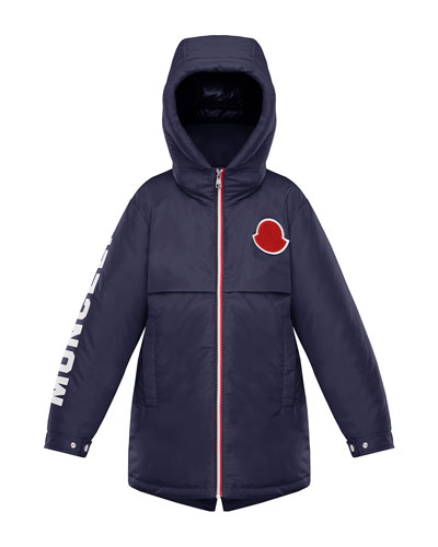 Airon Hooded Logo-Sleeve Coat  Size 8-14 and Matching Items