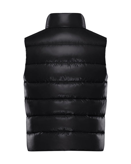 Moncler Quilted Nylon Snap-Front Puffer Vest, Size 4-6