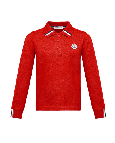 Long-Sleeve Polo Half-Button Shirt  Red  Size 4-6 and Matching Items