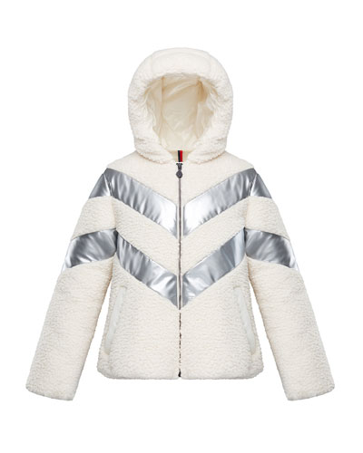 Cabourg Chevron-Striped Hooded Coat  Size 4-6 and Matching Items