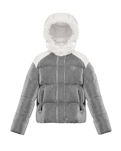 Chouette Sparkles Detachable-Hood Puffer Coat  Size 4-6 and Matching Items