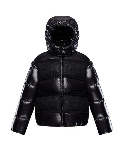 Elbe Detachable-Hood Puffer Coat w/ Tweed  Size 4-6 and Matching Items