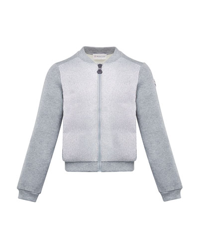 Contrast-Front Zip Cardigan  Size 4-6 and Matching Items