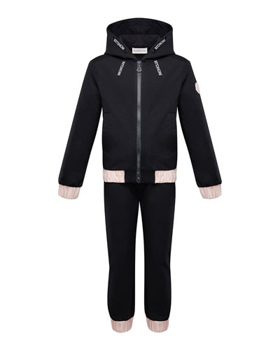 Contrast-Trim Hoodie w/ Matching Sweatpants  Size 4-6 and Matching Items