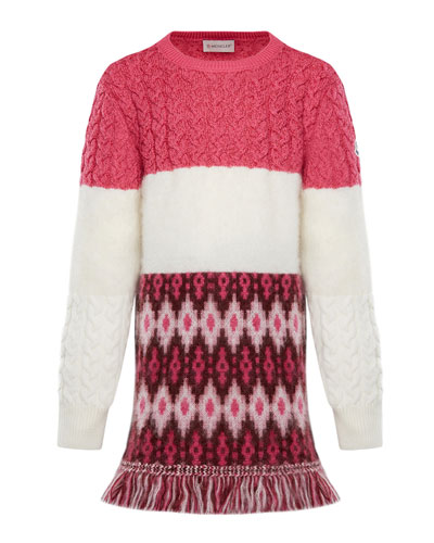 Virgin Wool Sweater Dress w/ Fringe  Size 4-6 and Matching Items