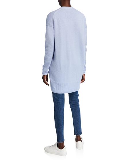 St. John Collection Button-Front Drop Shoulder Cashmere Cardigan