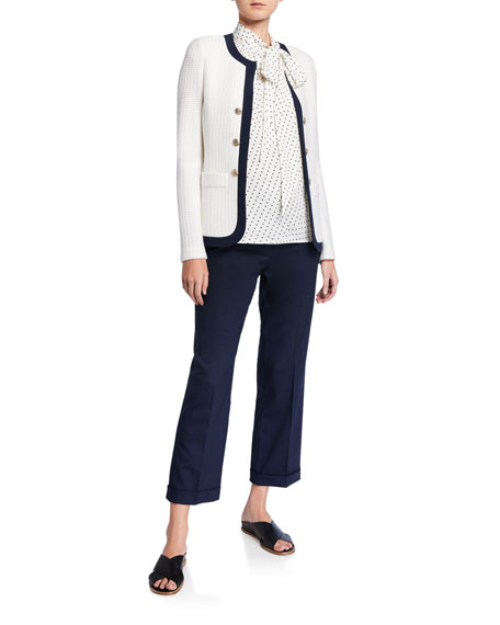 St. John Collection Seaside Chain Stitched Jacket