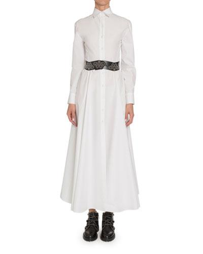 Poplin Long-Sleeve Shirtdress and Matching Items